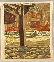 Ken Tagawa 1906-1967 - Zen Temple in Autumn