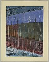 Kazuhiro Katase born 1942 - Rain at Tsumago