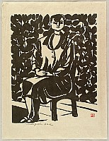 Tomisaburo Hasegawa born 1910 - Lady on a Terrace