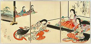 Chikanobu Toyohara 1838-1912 - Ladies in Chiyoda Palace - The New Year's Day Ceremony