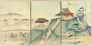 Chikanobu Toyohara 1838-1912 - Chiyoda no On-omote - Military Practice