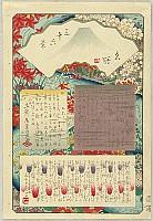 Hiroshige II Utagawa 1829-1869 - Title Page - Thirty-six Views of Mt.Fuji