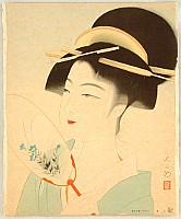 Daizaburo Nakamura 1898-1947 - Beauty and Round Fan