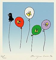 Jun Kwak Duck born 1937 - Meaningless 976 - Butterflies and Mystery Man