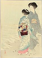 Keishu Takeuchi 1861-1942 - Beauties on Beach