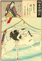 Kunichika Toyohara 1835-1900 - One Hundred Kabuki Roles by Onoe Baiko - Swimmer
