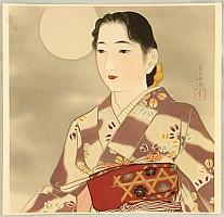Shuho Yamakawa 1898-1944 - Beauty and the Full Moon