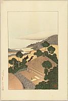 Nihofu (Nio) Mizushima 1884-1958 - Famous Places in Hanshin, No. 17  Mt. Maya