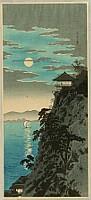 Hiroaki (Shotei) Takahashi 1871-1945 - The Moon and Mt. Ishiyama