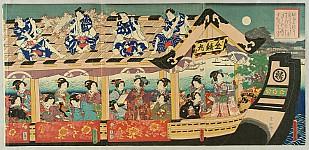 Kunisada II Utagawa 1823-1880 - Viewing the Full Moon