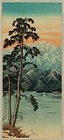 Hiroaki (Shotei) Takahashi 1871-1945 - Remaining Snow on Mt. Shirane