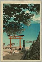 Hasui Kawase 1883-1957 - Chuzenji Temple at Utagahama Beach