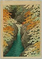 Hasui Kawase 1883-1957 - Azuma Gorge