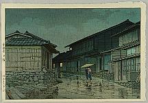 Hasui Kawase 1883-1957 - Selection of Views of the Tokaido - Nissaka