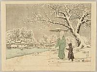 Kogyo Terazaki 1866-1919 - Walk in Winter