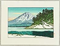 Hasui Kawase 1883-1957 - Mt.Fuji and Shojin Lake