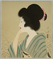Eisho Narazaki 1864-1936 - Beauty in Thoughts