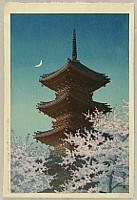 Hasui Kawase 1883-1957 - Toshogu Shrine in Spring Dusk