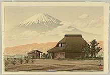 Hasui Kawase 1883-1957 - Mt. Fuji from Narusawa