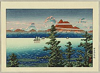 Hasui Kawase 1883-1957 - Collection of Ukiyo-e Designs - Mt. Unzen in Hizen Province