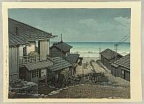 Hasui Kawase 1883-1957 - Cloudy Day at Mizuki, Ibaraki Prefecture