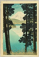 Shiro Kasamatsu 1898-1992 - View of Mt. Fuji from Lake Ashi