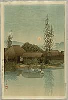 Hasui Kawase 1883-1957 - Ukishima, Yanaginawa