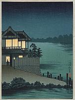 Kiyochika Kobayashi 1847-1915 - House near a Lake