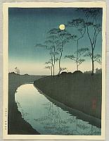 Koho Shoda 1871?-1946? - Canal under the  Moonlight