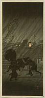 Hiroaki (Shotei) Takahashi 1871-1945 - Sudden Rain