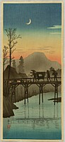 Hiroaki (Shotei) Takahashi 1871-1945 - Sakawa - Going Home in Sunset