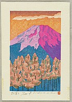 Yuji Watanabe born 1941 - Crimson Mt. Fuji