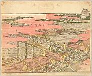 Hokusai Katsushika 1760-1849 - Pleasure of the East - Azuma Asobi - Nihonbashi Bridge