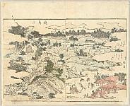 Hokusai Katsushika 1760-1849 - Pleasure of the East - Azuma Asobi - Mt. Asuka