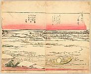 Hokusai Katsushika 1760-1849 - Pleasure of the East - Azuma Asobi - Sumida River