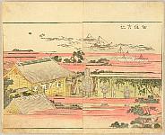 Hokusai Katsushika 1760-1849 - Pleasure of the East - Azuma Asobi - Tsukuda