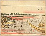 Hokusai Katsushika 1760-1849 - Pleasure of the East - Azuma Asobi - Shinagawa