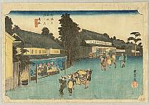 Hiroshige Ando 1797-1858 - 53 Stations of the Tokaido (Hoeido) - Narumi