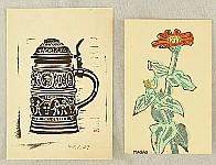 Masao Maeda 1904-1974 - Red Flower, Beer Mug