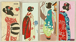 Unknown - Four Maiko Pictures for Envelopes