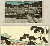 Kaichi Kobayashi fl. ca. 1930 - Two landscape Envelopes