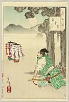 Yoshitoshi Tsukioka (Taiso) 1839-1892 - One Hundred Aspects of the Moon, No.36 - Takakura Moon