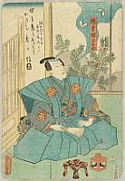 Kunisada Utagawa 1786-1865 - Butterflies - Kabuki