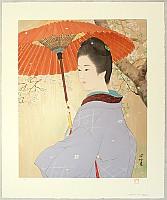 Shinsui Ito 1898-1972 - Beauty under the Cherry Tree