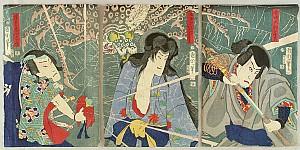 Kunichika Toyohara 1835-1900 - Giant Spider - Kabuki