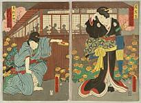Kunisada Utagawa 1786-1865 - Ready to Fight - Kabuki