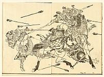 Hokusai Katsushika 1760-1849 - Tang Poems - Fight