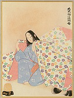 Tadashi Moriya 1912-2003 - One hundred Poems by One Hundred Poets - Mother of Michitsuna