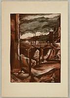 Toyonari Yamamura 1885-1942 - Impressions of Great Kanto Earthquake - Shinbashi Station