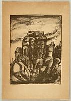 Toyonari Yamamura 1885-1942 - Impressions of Great Kanto Earthquake - St. Nikolai Cathedral